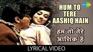 Hum To Tere Aashiq Hai Hindi English  Mukesh Lata Mangeshkar Lyrics