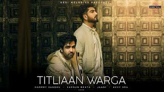 Titliaan Warga Hindi English  Hardy Sandhu Jaani Lyrics