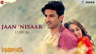 Jaan Nisaar Hindi  Arijit Singh Lyrics